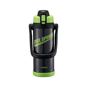 象印(ZOJIRUSHI) 水筒 直飲み スポーツタイプ ステンレスクールボトル 2.0L グリーンブラック SD-BC20-BG