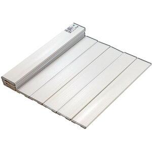 Agスリム 折りたたみ風呂ふた ホワイト 750×1418mm L14 ミエ産業