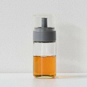 【全品P5〜10倍】液だれしにくい ガラスボトル オイル&ビネガー グレー 川崎合成樹脂