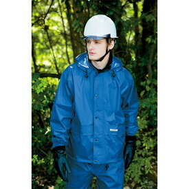 作業服 作業着 レインウェア レインスーツ 防水 透湿 カッパ 高視認 メンズ 男性 アイトス AITOZ IIS-58701 ブルー オレンジ シルバー ブラック Sサイズ Mサイズ Lサイズ LLサイズ 3Lサイズ 4Lサイズ 5Lサイズ 6Lサイズ