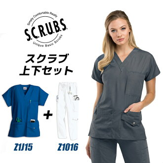 White robe fashion doctor uniform doctor Hospital uniform gown for the scrub white robe woman top and bottom set 6 pocket top Z1015+ 7 pocket cargo pant Z1016 medical lady's short-sleeved medical white robe doctor