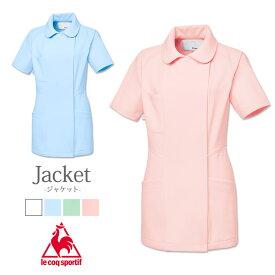 ルコックナース レディス 女性用 ストレッチ 衿付きジャケット 白衣 aksuqw1012