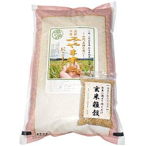 【松尾米穀店】福岡みやま米 にこまる・玄米雑穀セット(白米5kg、玄米雑穀200g)