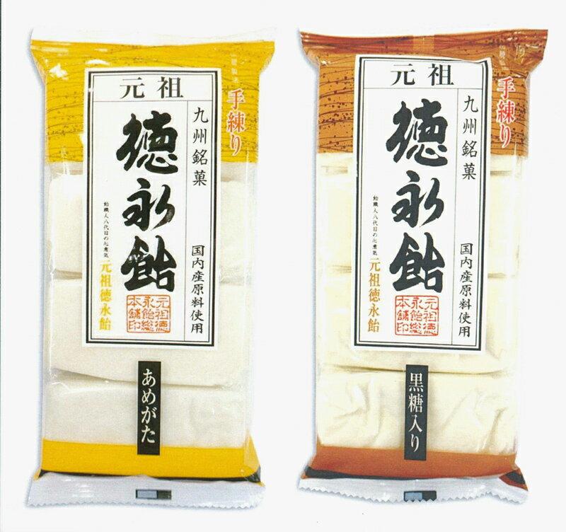 【送料無料】徳永飴(あめがた)(黒糖入り)8枚-各3袋6袋セット
