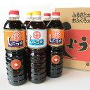 【送料無料】(福岡県朝倉市) 九州うまくち醤油 こいくち・うすくち6本セット