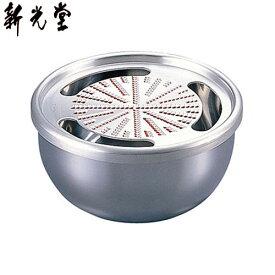 【日本製】 新光金属 HMO-7SS 純銅おろし器(ステンレス器) 4寸 12cm 【送料無料】
