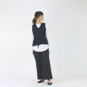 【2019A/W】【MYマイ】VNECKKNITVESTNAVYレディース女性ニットベスト