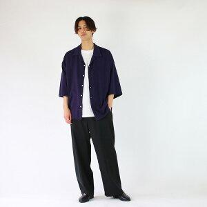 【bukhtブフト】シャツC.C.YS/SSHIRTS-CORECOMPACTYARN-DPURPLEブフト半袖シャツ