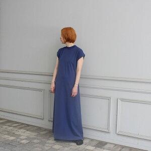【2020S/S】【Phlannelフランネル】OrganicCottonSummerLongDressBLUISHPURPLEレディース女性ワンピース