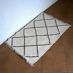 モロッコ産ベニワレンKILLIMBENIOURAINS1キリムベニワレンインテリアラグカーペット敷物ベニワレン83cm×54cm
