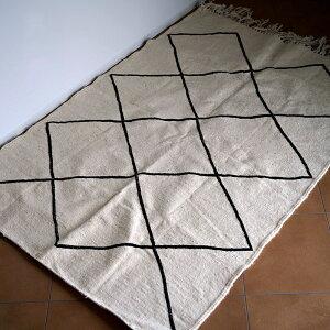モロッコ産ベニワレンKILLIMBENIOURAINMキリムベニワレンインテリアラグカーペット敷物ベニワレン153cm×108cm