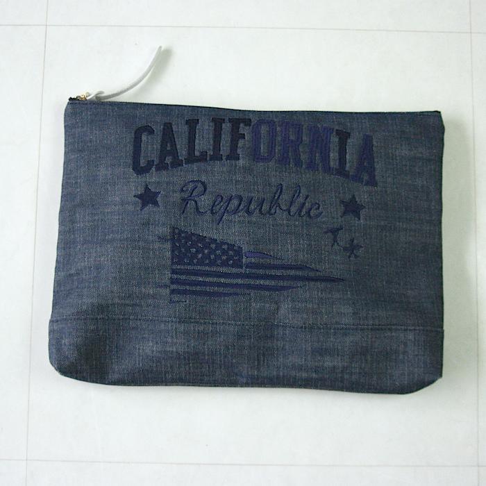 """【Liberty Bell リバティ ベル 】""""CALIFORNIA"""" デニム クラッチ バッグメーカー希望小売価格\9800 税抜"""