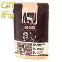 最短賞味2021.8・アートゥー キャットフード サーモン・チキン&エビ 85g 成猫用 ウェット 総合栄養食 AATU 正規品 aa12821