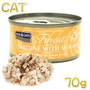 最短賞味2021.7・フィッシュ4キャット 猫缶「イワシ&小エビ」 70g缶 全猫種 全年齢対応キャットフード ウェット一般食 FISH4CATS 正規品 f4c06903