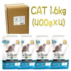 最短賞味2021.4.5・シシア 猫 キャット アダルト リッチイン フィッシュ 1.6kg(400g×4個)scc704p 成猫用 キャットフード Schesir 正規品