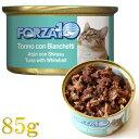 最短賞味2021.10・フォルツァ10 猫 メンテナンス マグロ&シラス 85g缶 成猫用 シニア猫対応ウェット 一般食 FORZA10 正規品 fo05661
