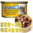 最短賞味2023.5・フォルツァ10 猫 メンテナンス マグロ&白身魚 85g×24缶 成猫シニア猫対応ウェット一般食キャットフードFORZA10正規品fo05678s24