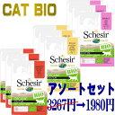 NEW 最短賞味2021.8・シシア 猫 BIOパウチ アソートセット 85g×9個(3種×各3個) scc420s3成猫用ウェット 総合栄養食Schesir 正規品SALE