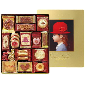 お菓子ギフト 赤い帽子クッキー詰合せ ゴールドボックス 16469(スイーツ インスタ映え お菓子ギフト 内祝い 結婚内祝い 出産内祝い 新築祝い 景品 結婚祝い ホワイトデーギフト 引き出物 香
