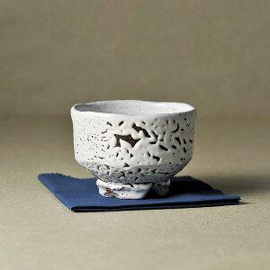 萩焼 原節夫作 白萩楽形茶碗 節夫-41(日本製 和食器)(内祝い 結婚内祝い 出産内祝い 新築祝い 就職祝い 結婚祝い 引き出物 お返し 新生活応援)