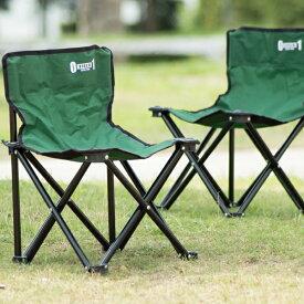 フォールディングチェアーペアセット モスグリーン アウトドアグッズ キャンプ用品 ピクニック 折り畳み式 椅子 車中泊 人気 一人キャンプ 野外 防災グッズ 災害対策 メーカー直送 ZERO-ONE FIELD