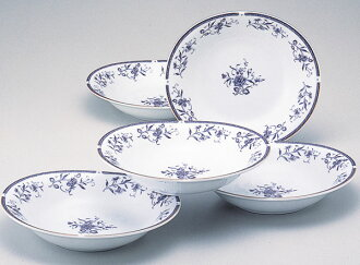 Narumi Peregrine blue Curry and pasta dish set