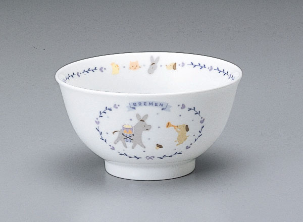 NARUMI(ナルミ)子供用食器 ブレーメン 飯茶碗(内祝い 結婚祝い 出産内祝い 新築祝い 結婚祝い 引き出物 お返し)(お買い物マラソンセール)