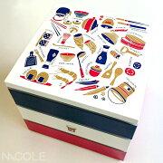 送料無料お台所3段重ランチボックス(お弁当箱)(お弁当箱/オードブル/ランチボックス/重箱)