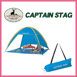 キャプテンスタッグ M-3122 プリズム ビーチテント ブルー ビーチからピクニック、行楽まで幅広く使用できる設営簡単なビーチテント アウトドア