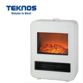 TEKNOS 暖炉型セラミックファンヒーター TD-S1200W テクノス 1200W/800W切替 電気式 転倒オフスイッチ/転倒OFF コンパクト
