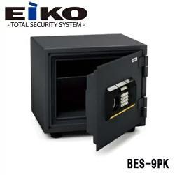■送料無料■エーコー 家庭用耐火金庫 BES-9PK テンキー+シリンダー式 一般紙用30分耐火試験合格 小型金庫 EIKO A4サイズ対応