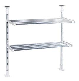 伸縮つっぱり棚 TP2-90L高さ55〜90cmまで取り付け可能 タクボ/TAKUBO/田窪/水切り棚 キッチン周り 整理整頓 キッチン 流し シンク 掃除
