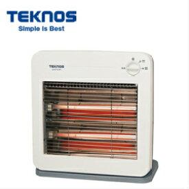 TEKNOS 電気ストーブ800W ES-K710W 白/ホワイト(ホワイト&グレー) テクノス 暖房器具 転倒オフスイッチ/転倒OFF 電源収納フック 薄型設計 シンプル