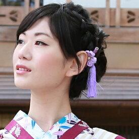 浴衣 髪飾り かんざし 日本製「桜ちりめんつまみかんざし」 夏祭り 花火 盆踊り お祭り 浴衣用ヘアーアクセサリー
