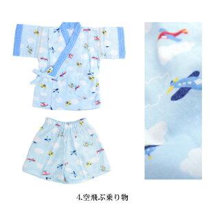 日本製やわらか二重ガーゼ甚平【あす楽】ベビー甚平赤ちゃん子供祭りTOIRO