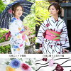 Yukata set women still weave yukata set Navy Blue stage six classic pattern on white yukata belt clogs women yukata set yukata weekend flower [tax included]
