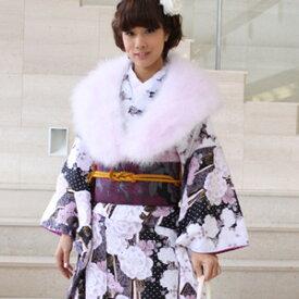 【レンタル】振袖 レンタル 成人式 セット20点フルセット「黒 ブラック 白 ホワイト 薔薇 バラ 桜 ハート」成人式から結婚式やフォーマルまで 着物 kimono フリソデ ふりそで rental れんたる せいじんしき セイジンシキ バッグ bag