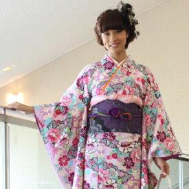 【レンタル】割引・振袖 レンタル 成人式 セット20点フルセット「ピンク 紫 パープル 黄 緑 牡丹 菊 絞り調」成人式から結婚式やフォーマルまで 着物 kimono フリソデ ふりそで rental れんたる せいじんしき セイジンシキ バッグ bag