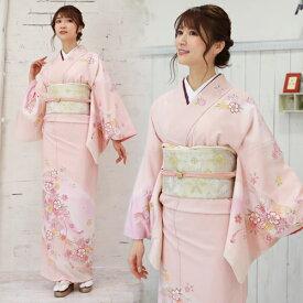 【レンタル】訪問着 レンタル 訪問着+和装小物 フルセットレンタル 安い ピンク 桜 梅卒業式 式典 祝賀会 パーティー 結婚式 袋帯 着物 kimono rental〔消費税込み〕