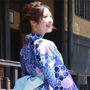 在庫処分商品「なでしこ」お仕立て上がり浴衣単品福袋浴衣単品女性レディース