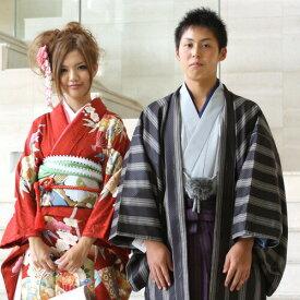 【レンタル】 成人式 卒業式 袴 男 レンタル セット 男物羽織袴レンタル14点フルセット