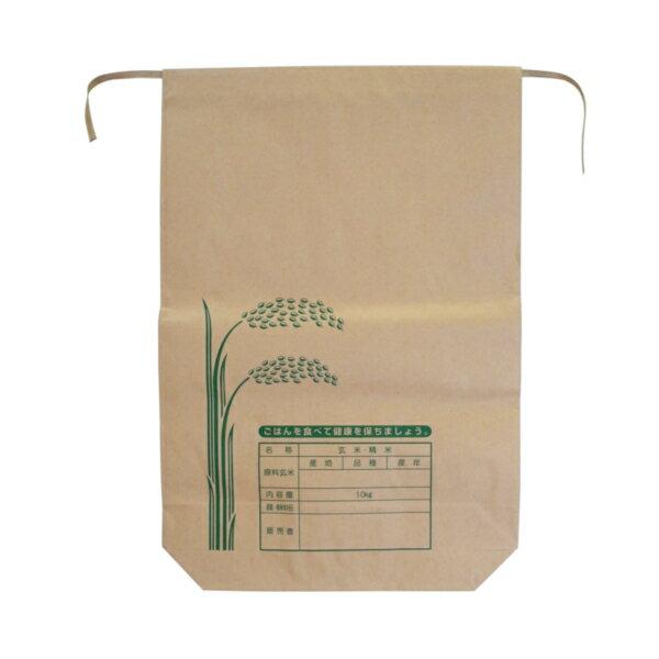 クラフト用紙 米袋 10kg バンド付A 100枚 − 王子製袋