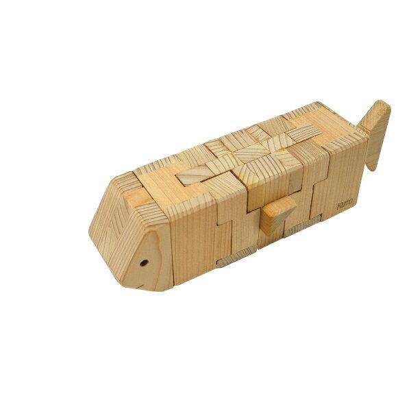 木組みパズル おさかな2 BR160-S (8パーツ)− くた工房