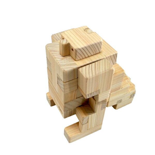 木組みパズル 恐竜(変身型) KY75-H (10パーツ)− くた工房