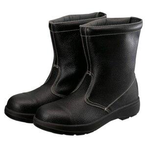 (T)シモン 2層ウレタン底安全半長靴 24.5cm ブラック AW44BK24.5