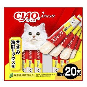 いなばペットフード 〈CIAOスティック〉ささみ 海鮮ミックス味 20本入り 15g×20本