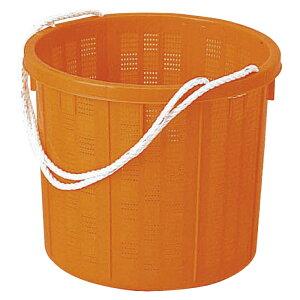 丸型収穫かご 中 オレンジ