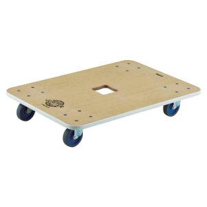 (T)TRUSCO 木製平台車 ジュピター 800X550 φ75 200kg JUP800200