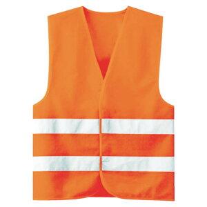(T)ミドリ安全 高視認安全ベスト 蛍光オレンジ