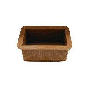 清水 エラストマーゴム脚 長角型24×45 茶